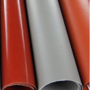 vải silicone màu xám may ống gió