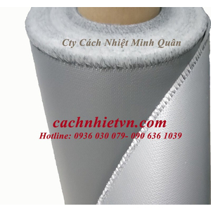 Vải silicone cốt sợi thủy tinh màu xám ,màu đỏ
