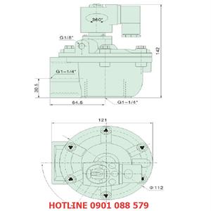 Van giũ bụi XQG-Z-35 loại khớp nối ren