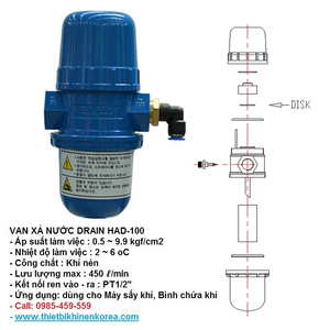 VAN XẢ NƯỚC HAD-100