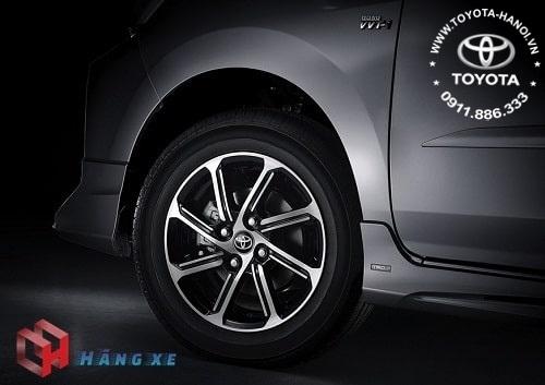 Vành bánh xe thiết kế mới của Wigo 2021