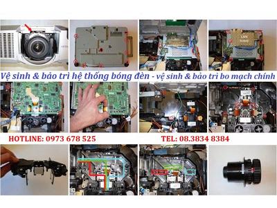 vệ sinh máy chiếu bảo trì máy chiếu tại nhà