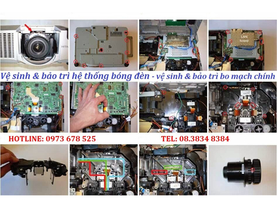 vệ sinh máy chiếu bảo trì máy chiếu tại trung tâm