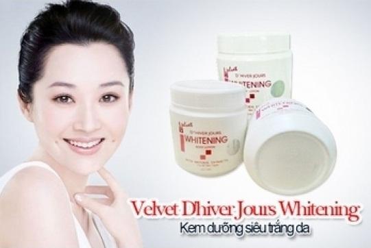 Kem dưỡng trắng da Velvet - Thái Lan Whitening cream Làm trắng làn da từ bên trong
