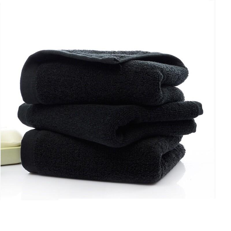 Khăn Quấn Đầu Màu Đen - Spa Hair Towel 40x80 140g đen