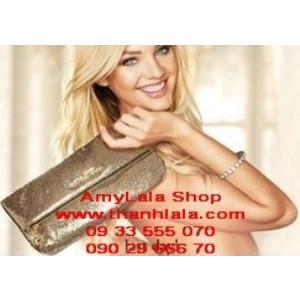 Ví cầm tay Victoria's Secret kim sa quý phái - 0902966670 - 0933555070