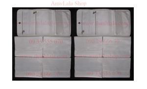 Ví clutch Lancome trắng nhũ siêu xinh sang trọng - 0902966670 - 0933555070