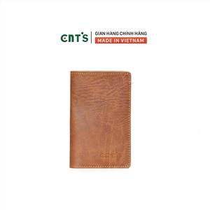 Ví da đựng passport hộ chiếu du lịch CNT VN18 sang trọng Bò Đậm
