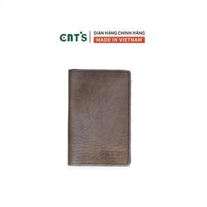 Ví da đựng passport hộ chiếu du lịch CNT VN18 sang trọng Nâu
