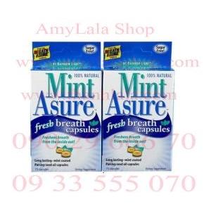 Viên nang MintAsure Fresh Breath trắng răng thơm miệng tức thì - 0933555070 - 0902966670