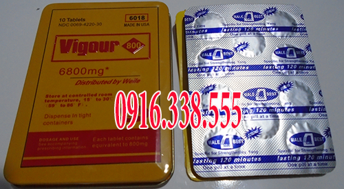 Thuốc Cương dương dạng viagra thảo dược (vigour 6800 mg 6018 made in USA)
