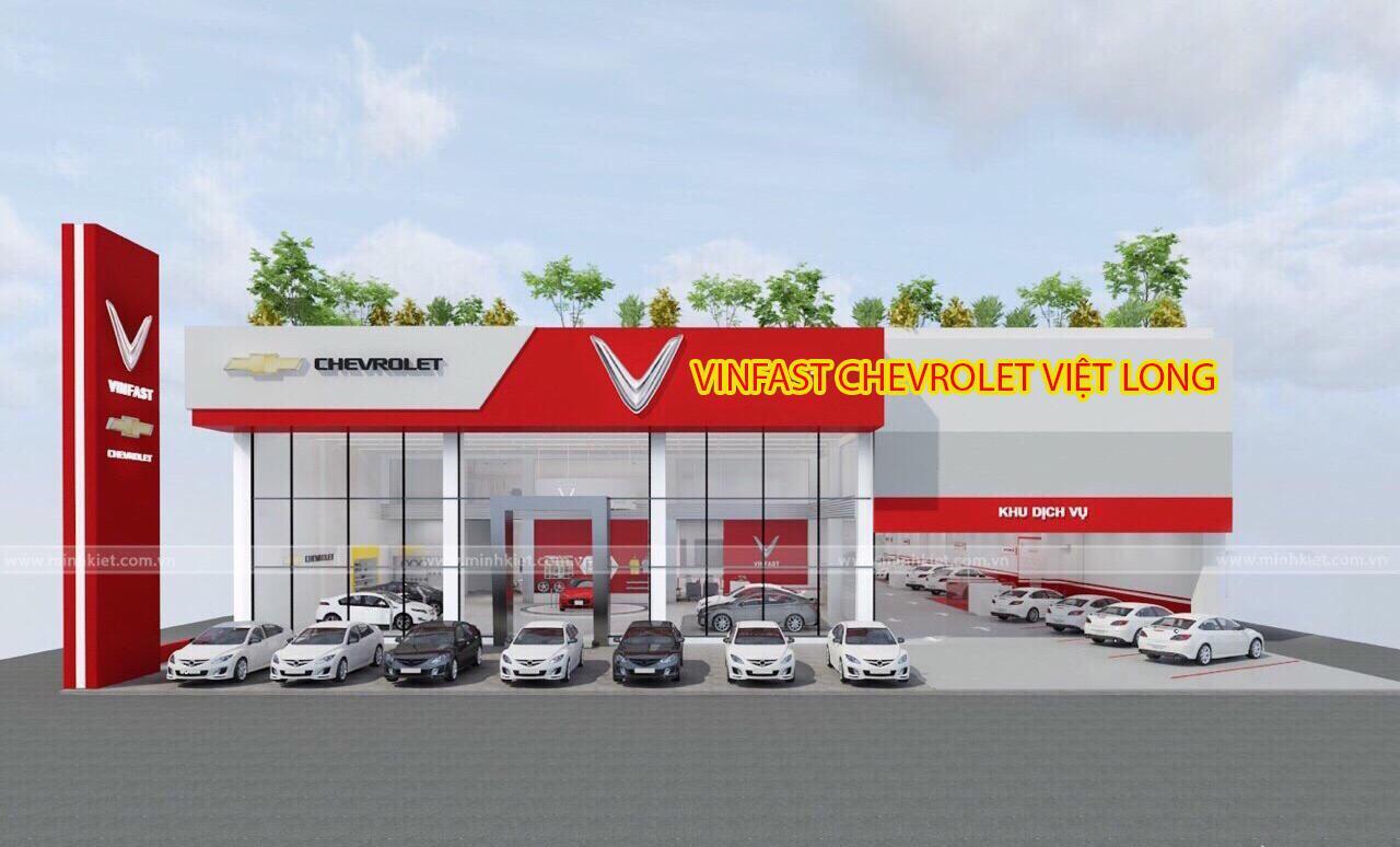 Mô phỏng hình ảnh đại lý VinFast Chevrolet Việt Long sau khi được cải tạo từ đại lý Chevrolet Việt Long