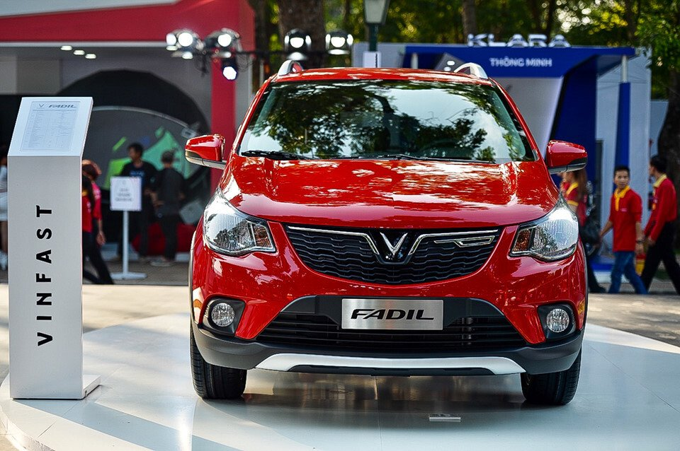 Hình ảnh xe VinFast Fadil tại lần ra mắt công chúng tại Sài Gòn