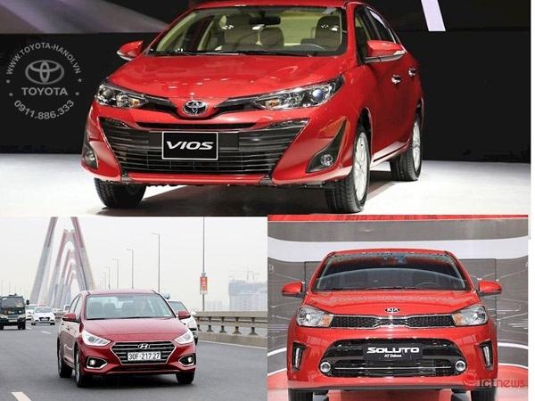 Các mẫu xe sedan hạng B bán chạy tại Việt Nam