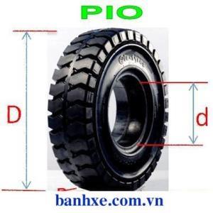 Vỏ đặc xe nâng 750-16 Pio