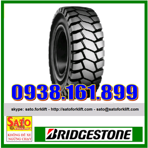 Vỏ xe nâng Bridgestone Nhật Bản size 16x6-8
