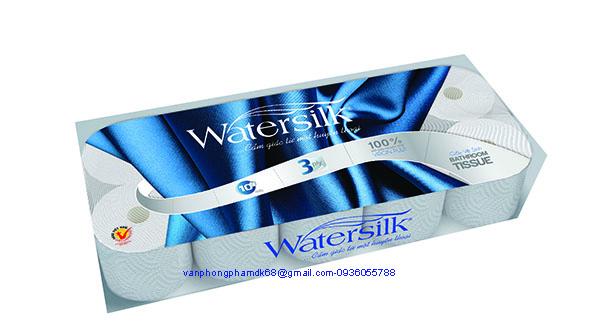 Giấy vệ sinh Watersilk 10 cuộn,có lõi