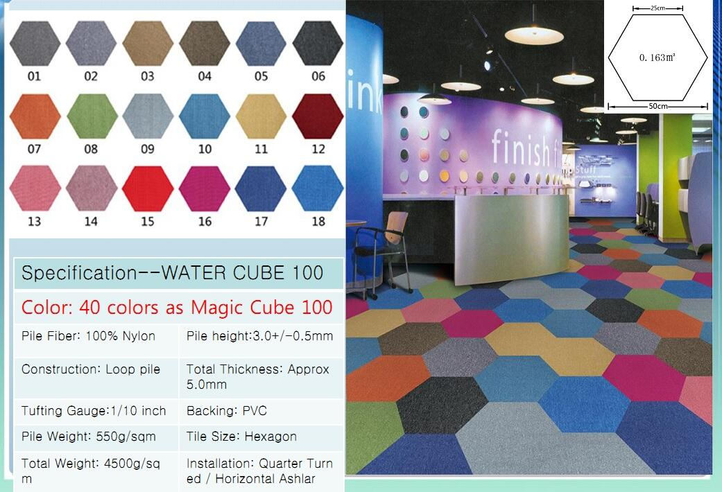 Thảm viên trải sàn water cube 100 carpet