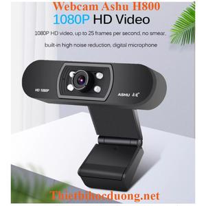 Webcam Full HD Ashu H800 tích hợp mic đa hướng lọc tạp âm tốt