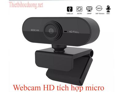 Webcam Full HD 1080 Xoay tích hợp micro dùng cho học sinh học online, học trực tuyến.