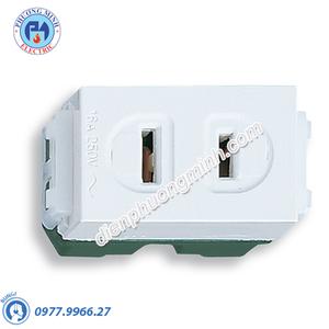 Ổ cắm đơn (dùng cho phích cắm dẹp) - Model WEG1001SW
