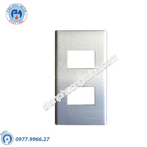 Mặt kim loại bằng nhôm dùng cho 2 thiết bị - Model WEG6502-1