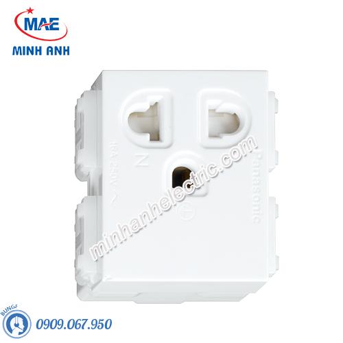 Ổ cắm đơn có màn che và dây nối đất - Model WEV1181-7SW