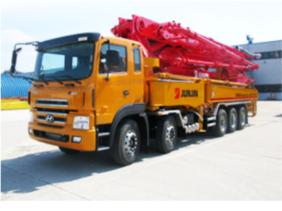 Xe bơm bê tông cần Junjin 52 mét, 5 đoạn