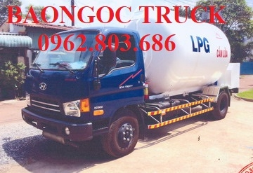Xe hyundai hd800 chở 9 khối LPG