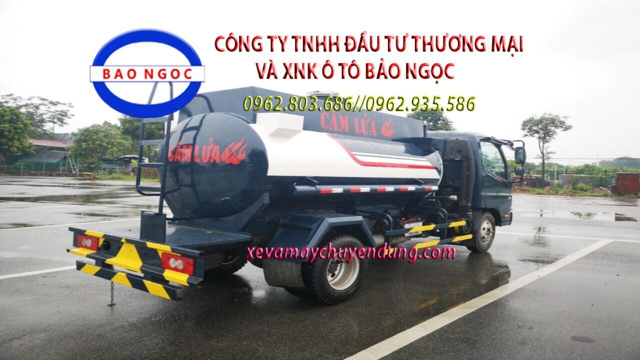 Xe bồn chở xăng dầu 4 khối thaco