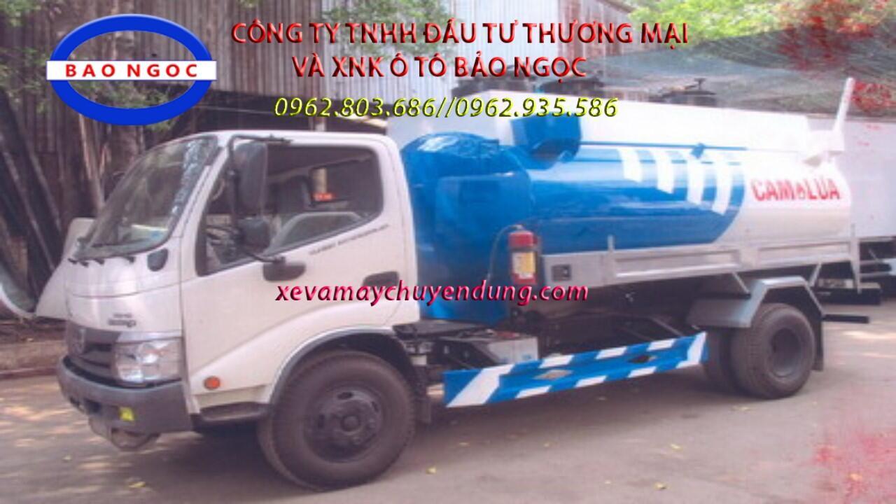 Xe téc chở xăng dầu 6 khối HINO WU 342L