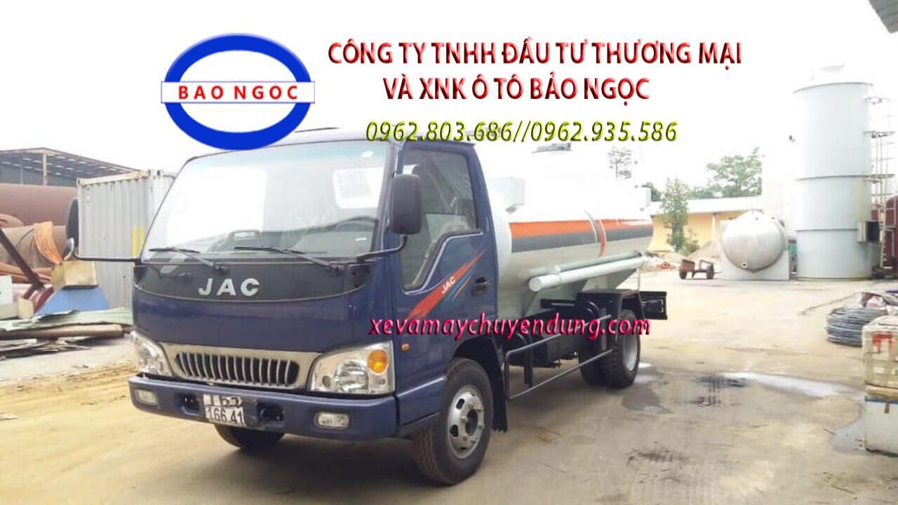 Xe bồn chở xăng dầu 6 khối jac