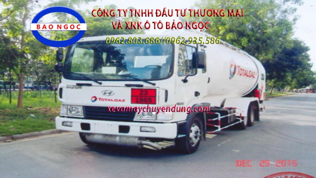 Xe bồn hyundai hd210 chở 19 lít khí hóa lỏng LPG