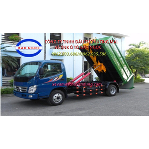 Xe chở rác thùng rời hooklift 6 khối thaco ollin 500B