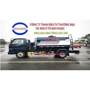 Xe chở xăng dầu 4 khối cấp lẻ thaco ollin 350