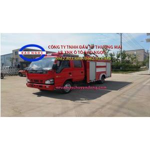 Xe chữa cháy cứu hỏa isuzu 3 khối nhập khẩu
