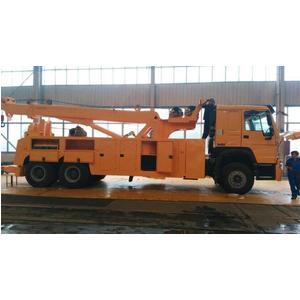 Xe cứu hộ giao thông howo 3 chân gắn cẩu xoay 20 tấn