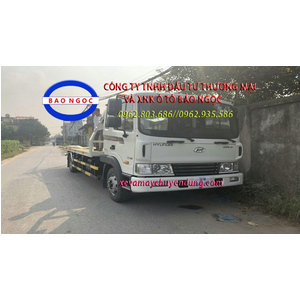 Xe cứu hộ giao thông hyundai HD120 sàn trượt kéo chở xe