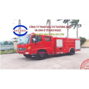 Xe cứu hỏa chữa cháy HINO FG chứa 5 khối nước 1 khối bọt