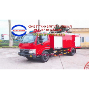 Xe cứu hỏa chữa cháy hino wu342l chứa 2200 lít nước, 300 lít bột foam
