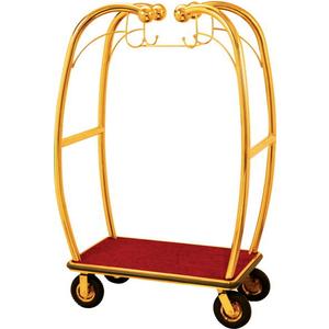 Xe đẩy hành lý inox vàng XL-1002