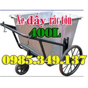 Xe đẩy rác tôn 400l