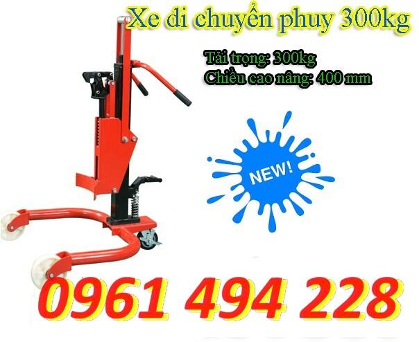 Xe di chuyển phuy 300 kg nâng 400mm chính hãng giá rẻ