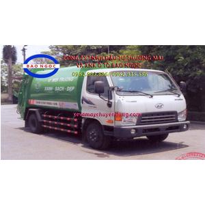 Xe ép chở rác hyundai hd500