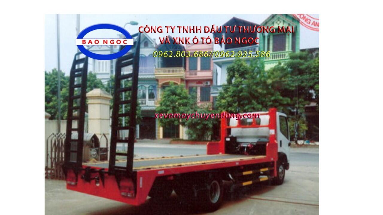 Xe fooc 2 chân faw chở máy công trình