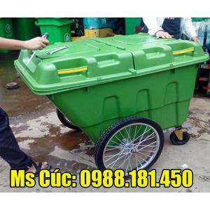 Xe gom đẩy rác 400L nhựa HDPE