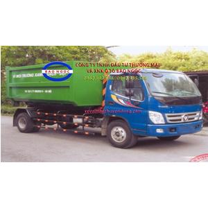 Xe hooklift chở rác thùng rời 12 khối thaco ollin 700C