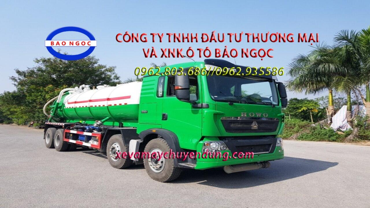 Xe hút chất thải 15 khối howo T5G