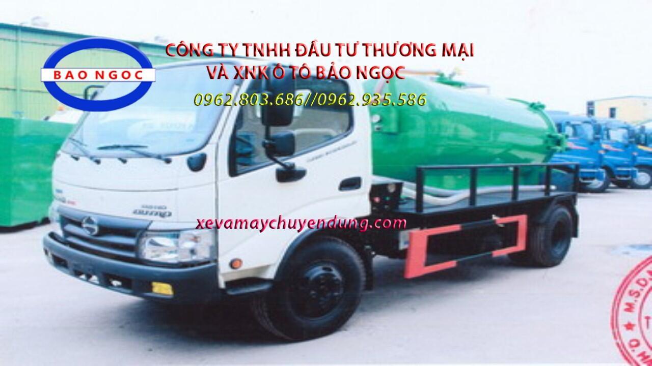 Bán xe hút chất thải 3 khối hino wu342l