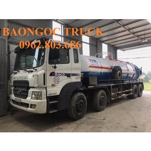 Hoán cải xe tải hyundai thành xe hút chất thải 4 chân 18 khối